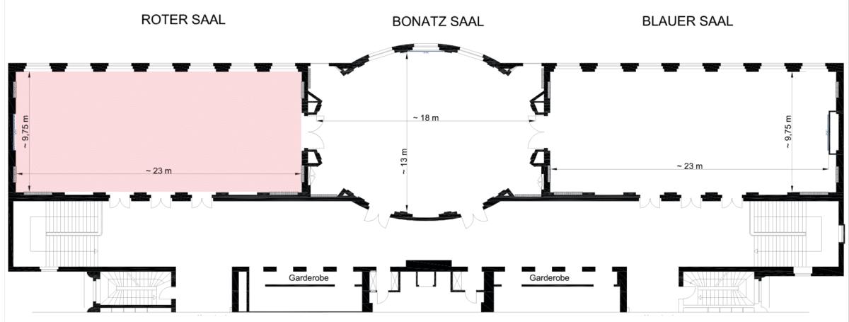 Raumübersicht RoterSaal 3